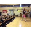 Ross showed us how to juggle with scarves.