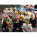 We made head bands with feathers on to wear.
