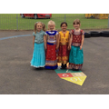 Pupils wearing Indian clothing