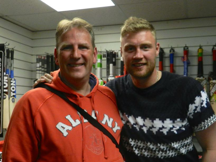 Mr D with Freddie Flintoff