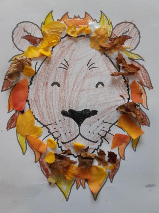 Lion art work