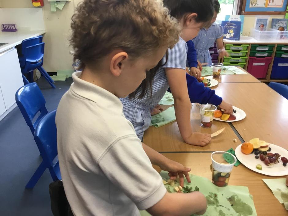 DT- Making a fruit salad