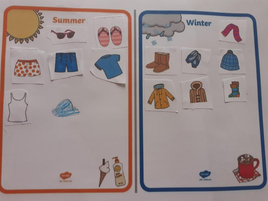 Summer and Winter clothing