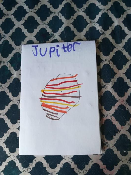 Lily made a fantastic fact file about Jupiter!