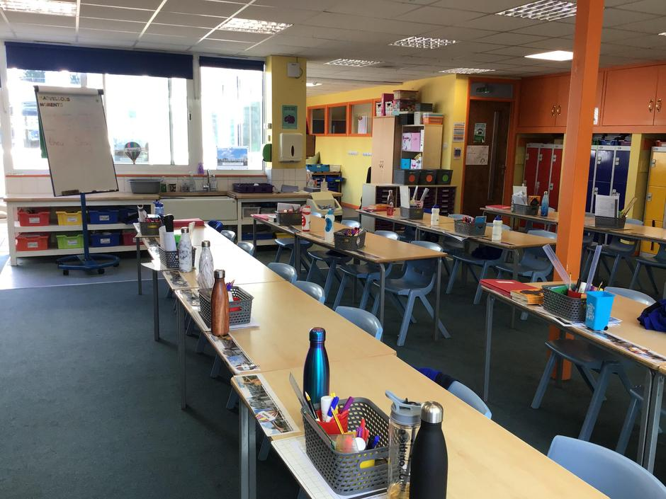 We have a lovely big classroom with plenty of space.