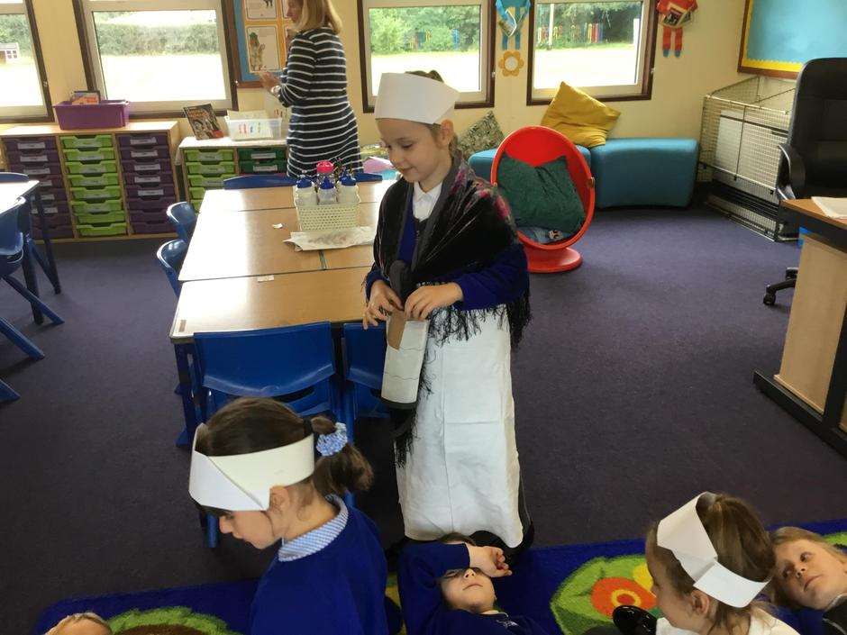 Role-playing being Florence Nightingale