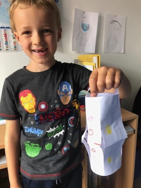 Max made a superb Ramadan Lantern!