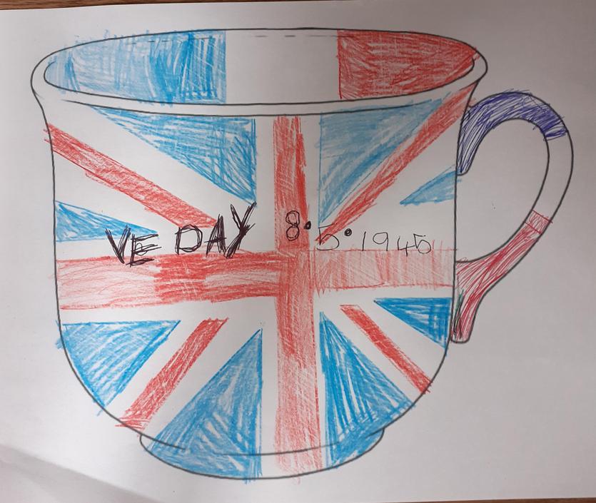 VE day teacup