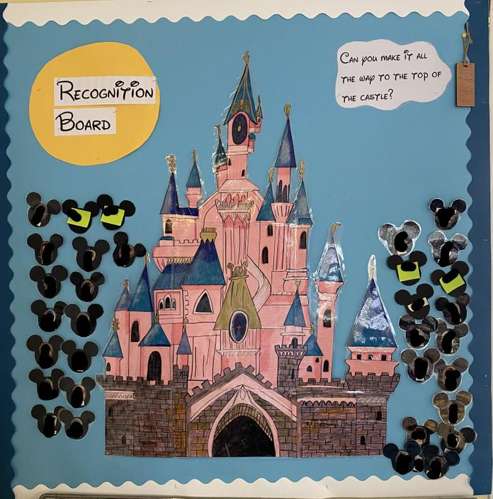 This is our very exciting Disney themed recognition board