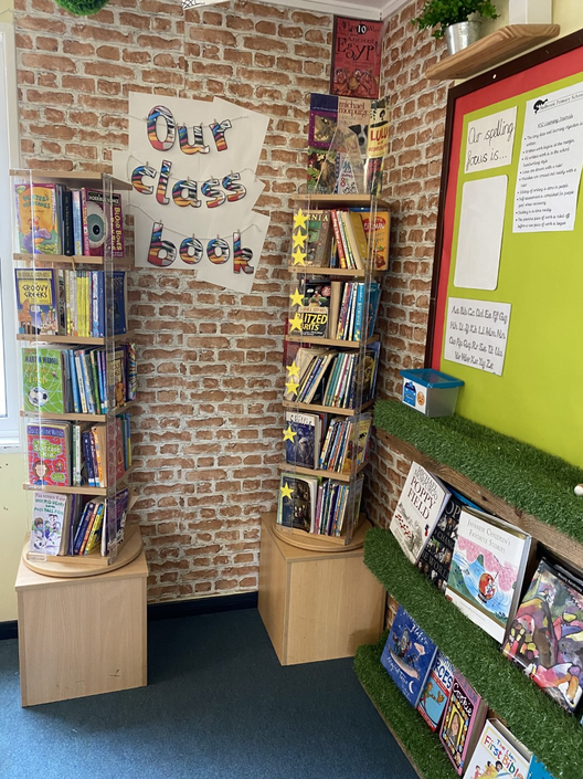 This is our lovely book corner