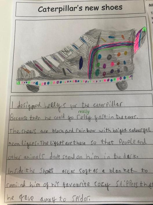 An awesome caterpillar shoe design