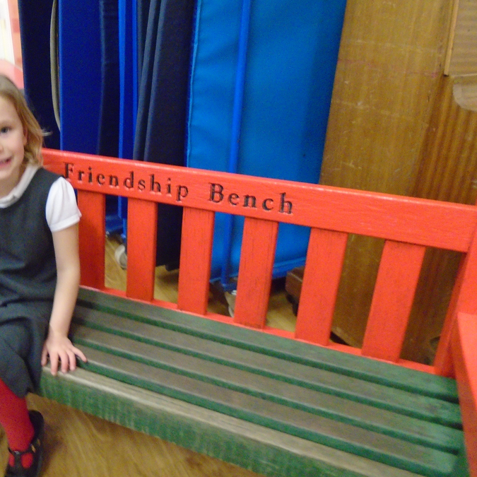 Our Freindship Bench. No one is lonely at Holbrook