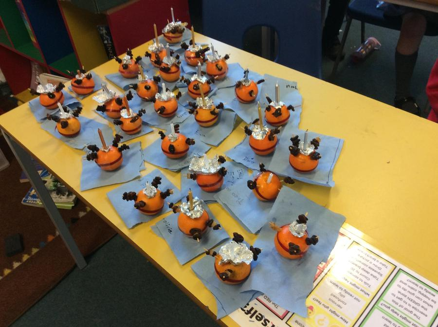 Year 4 Christingle oranges