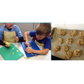 Making apple and oat cookies for our Apple Day celebration