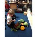Which vegetables did Oliver find in the story?