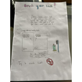 Faith's informative poster for Science