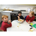 Baking in school is all about team work.