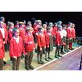 Choir performing at Snape Maltings
