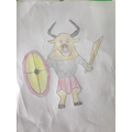 Lewis's scary-looking Minotaur