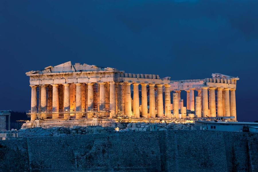 The famous Parthenon temple in Athens