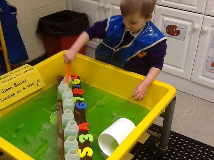 Ordering Numbers in Water Play