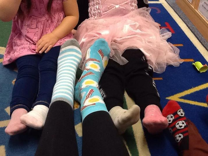 Look at our odd socks!