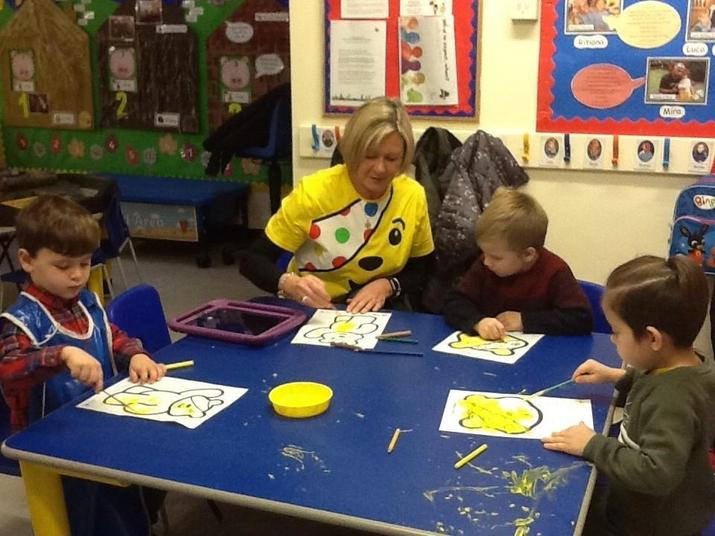 Painting Pudsey Bear