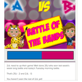Battle of the Bands....