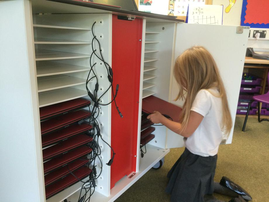 Learning to put the laptops away correctly
