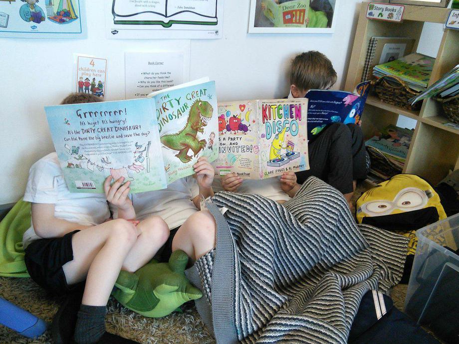 Stuck into reading!