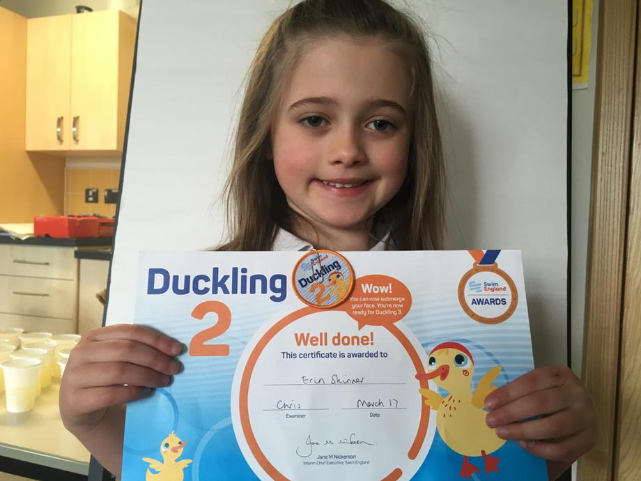 Well done in your swimming Erin!