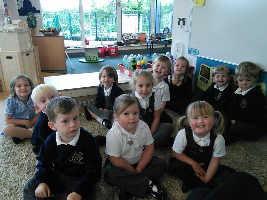 Practising our sitting skills!