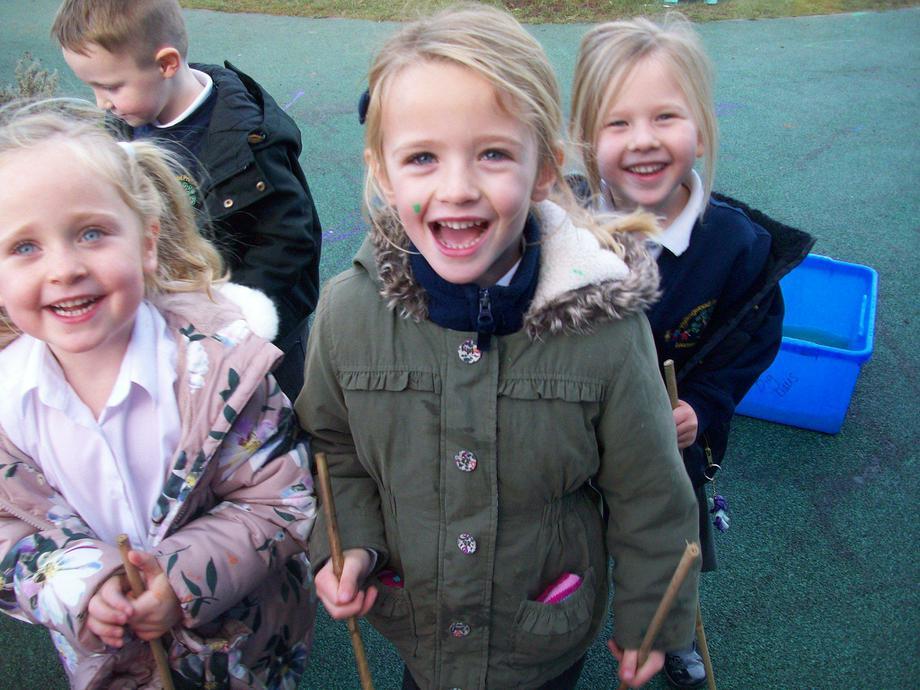 We've got walking sticks!