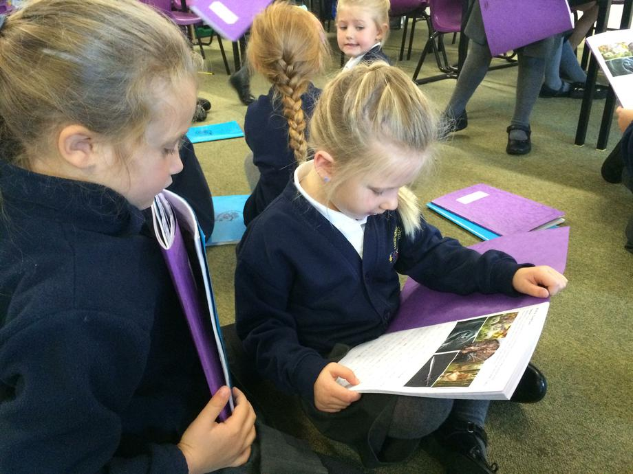 Reading our stories to each other.