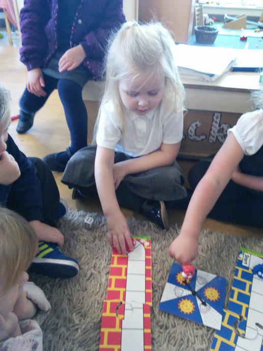 We played a game where practice our counting!