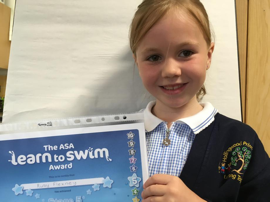 Well done in your swimming Ruby!