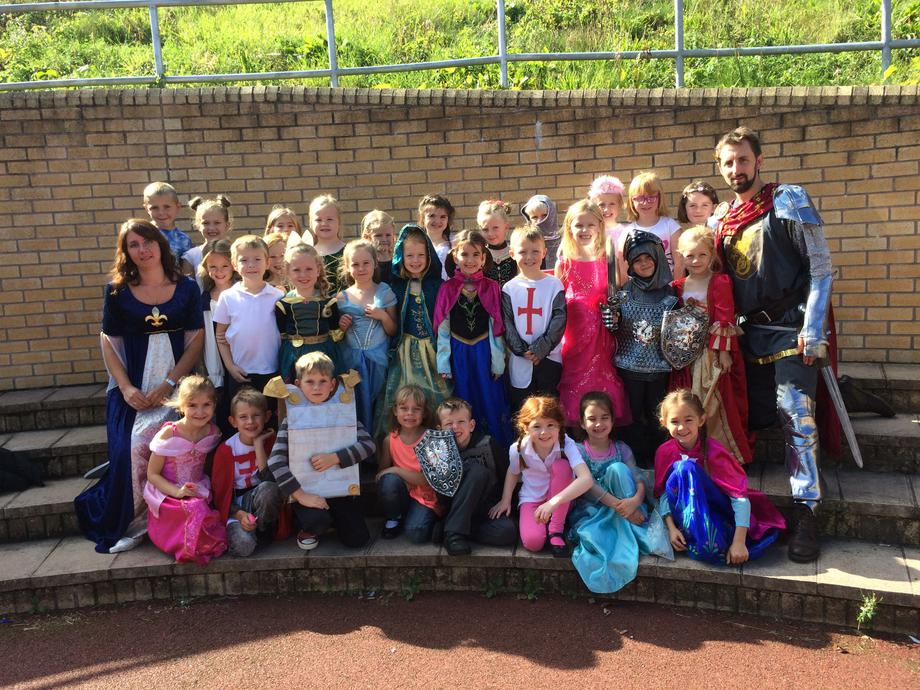 Cardiff Class on Medieval Day - what a sight!