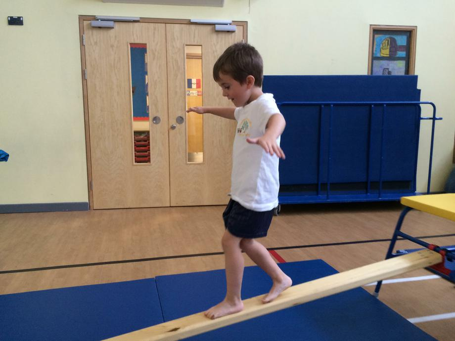 ...in first Gymnastics lesson!