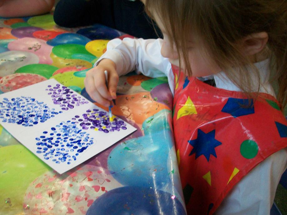 We used different colours like Georges Seurat.
