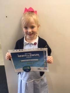 Well done in your swimming Miah!