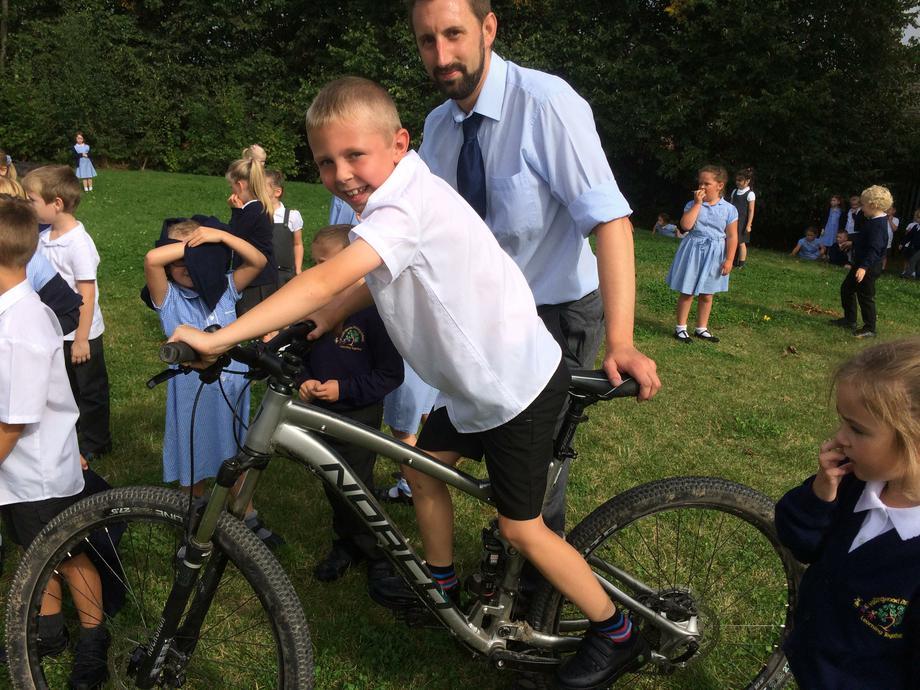 You can go mountain biking in Wales!