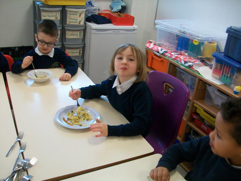 We really enjoyed eating the noodles!