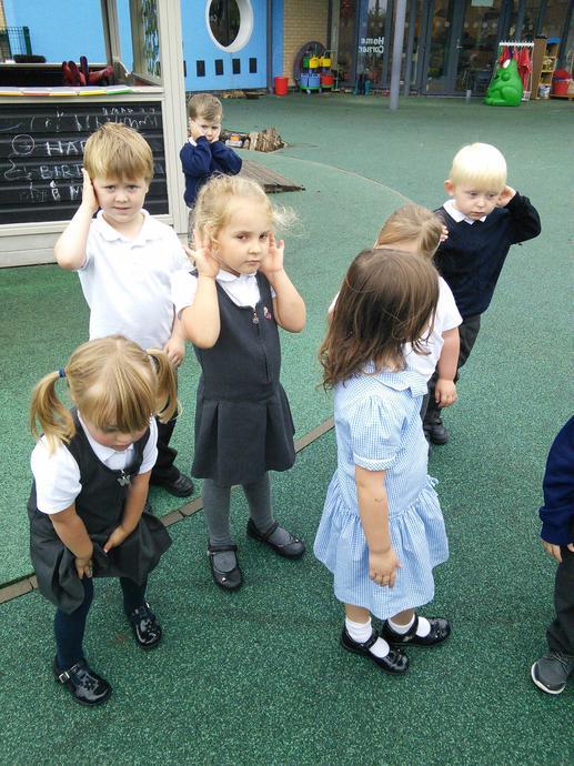 Practising our listening skills!