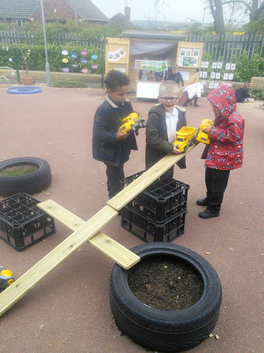 Fantastic teamwork with our new outdoor equipment