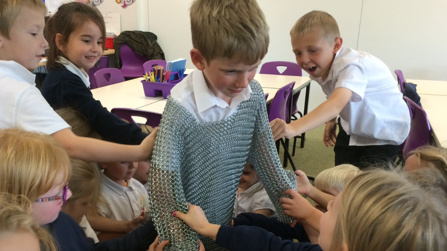 Wow! Real chainmail is SO heavy.