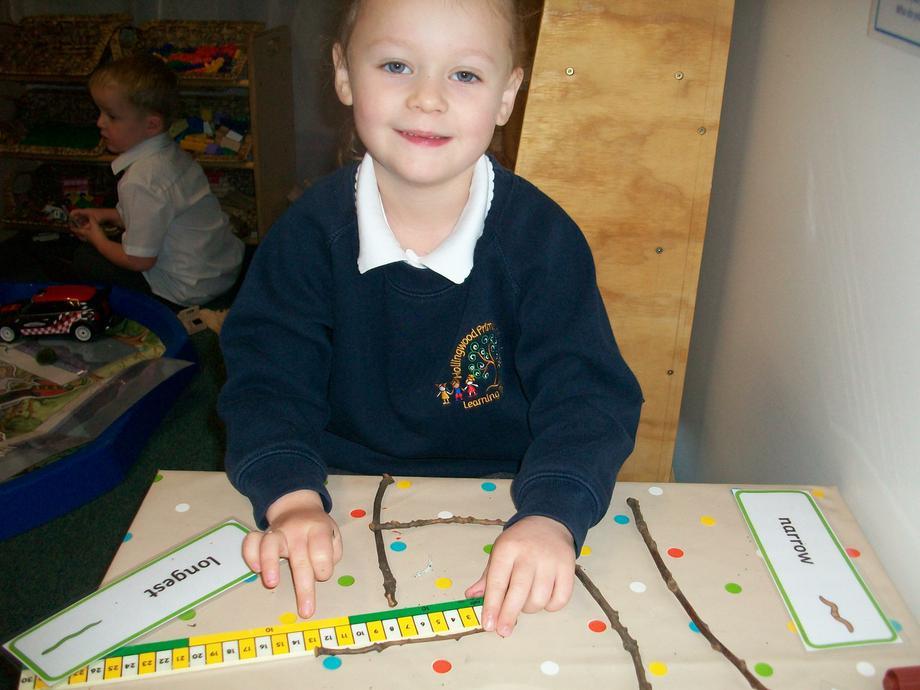 Measuring sticks using a ruler