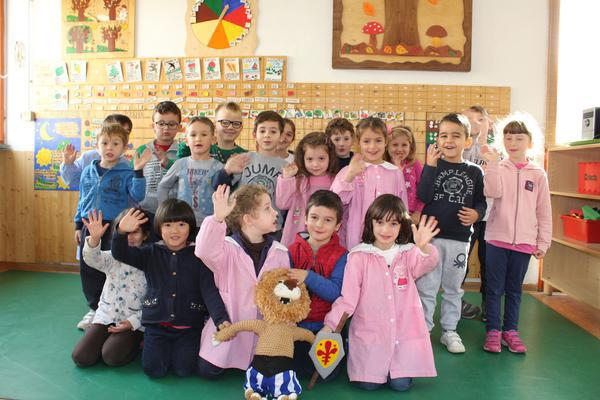 The children in Italy with their teddy mascot!