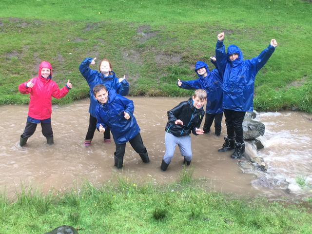 When you are wet - why not jump in a stream!