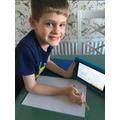 Noah doing his White Rose maths!