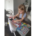 Arts and crafts at home with Ava!